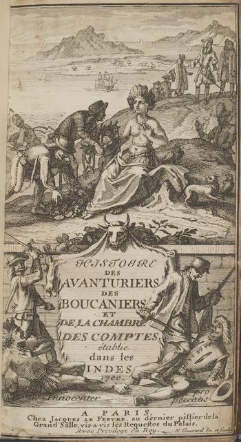 """&quotHistoire des Adventuries Filibustiers, qui sont Signalez dans les Indes. Paris, 1699"""" by Burns Library, Boston College on Flickr (CC-BY-NC-SA)"""