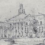 """""""Dibujo del Pabellón de Italia"""", in Oficina del Comisario General del Gobierno Italiano, """"Exposición internacional de Barcelona 1929. Catálogo de la sección italiana"""", Milano-Roma, Casa Editorial de Artes, 1929, p. 5"""