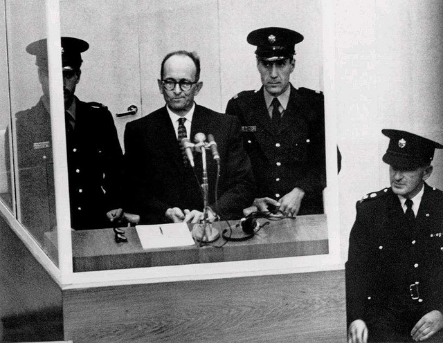 """Adolf Eichmann on trial #1 - the man in the glass booth"" by The Huntington on Flickr (CC BY 2.0)"