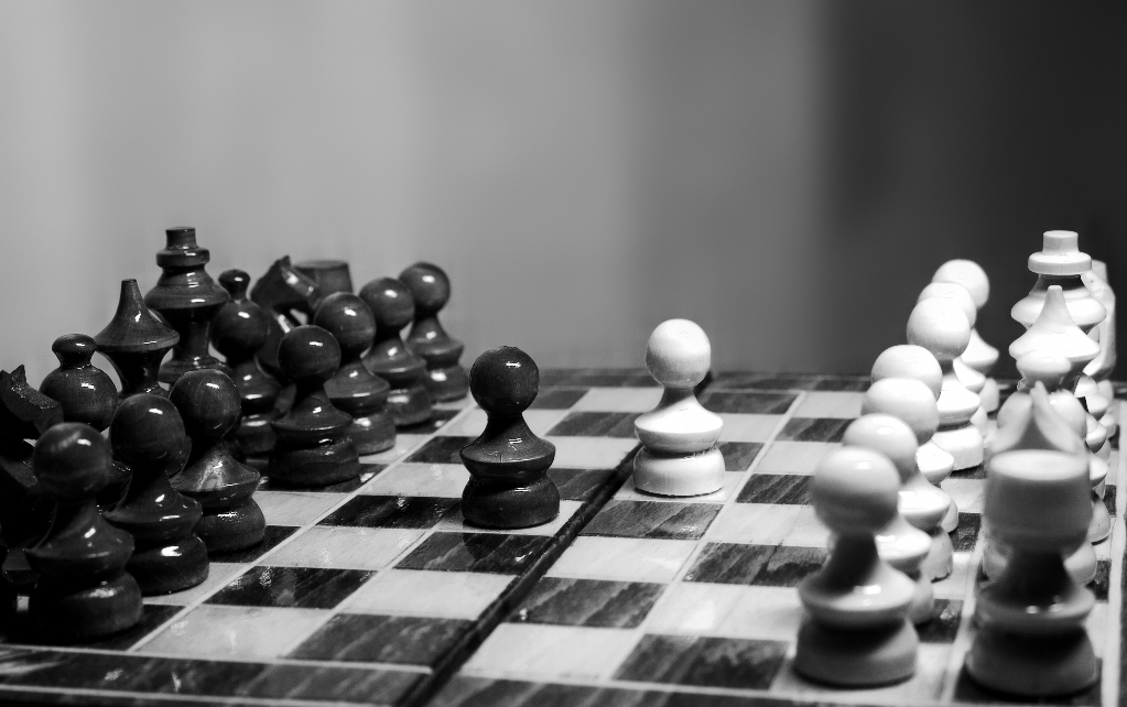 """Conflict (Chess II)"" by Cristian V. on Flickr (CC BY-ND 2.0)"