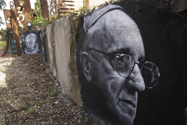 """""""Le 112ème est Jorge Mario Bergoglio (Pope Francis), painted portrait"""" by Thierry Ehrmann on Flickr (CC BY 2.0)"""