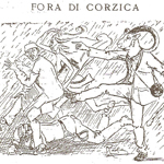 """Ranfia (Dominique Massa), """"Fora di Corzica"""", 1921. Caricatura apparsa sulla rivista «A Muvra», 22 settembre 1921, p. 1 (© L'immagine appartiene ai rispettivi proprietari / Property of its respective owners)"""