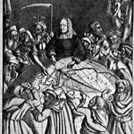 "Dionys Padt-Brugge (1629-1676), ""Et nos homines"", 1650 ca. Acquaforte. Incisione stampata nell'edizione di Olaus Rudbeck, ""Atland eller Manheim"", Upsalae, excudit Henricus Curio S.R.M. & Academiae Upsaliensis Bibliopola, 1700 (attraverso Wikimedia Commons [Public domain])"