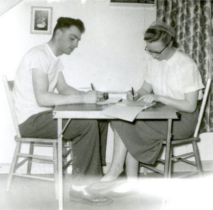 """Writing Home In Calling Lake Alberta"" by Mennonite Church USA Archives on Flickr (CC BY 3.0)"