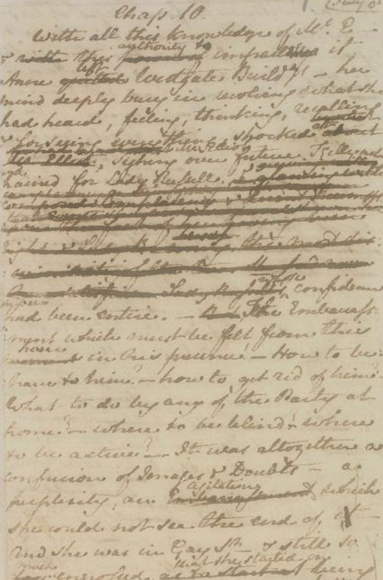 """Two Chapters of 'Persuasion' by Jane Austen"" (London British Library, MS Egerton 3038) on Jane Austen's Fiction Manuscripts Digital Edition (CC BY 3.0)"