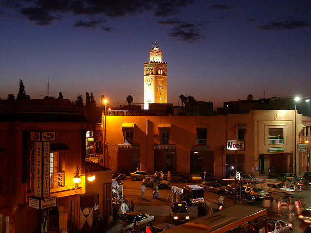 """Marrakech by night"" by KaliFire (Maroc) on Flickr (CC BY-NC-SA 2.0)"