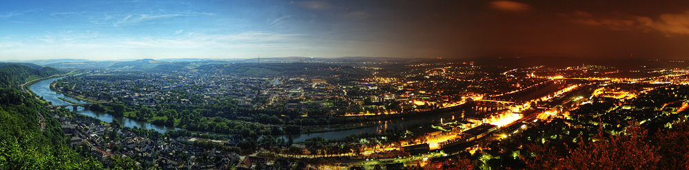 Trier - From Day to Night Panorama by 55Laney69 on Flickr (CC BY 2.0)