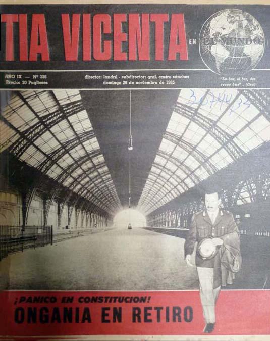 """Tía Vicenta"": Año IX, Número 336 (28 Noviembre 1965), copertina. Biblioteca Nacional Mariano Moreno de la República Argentina, Buenos Aires (© L'immagine appartiene ai rispettivi proprietari / Property of its respective owners)"