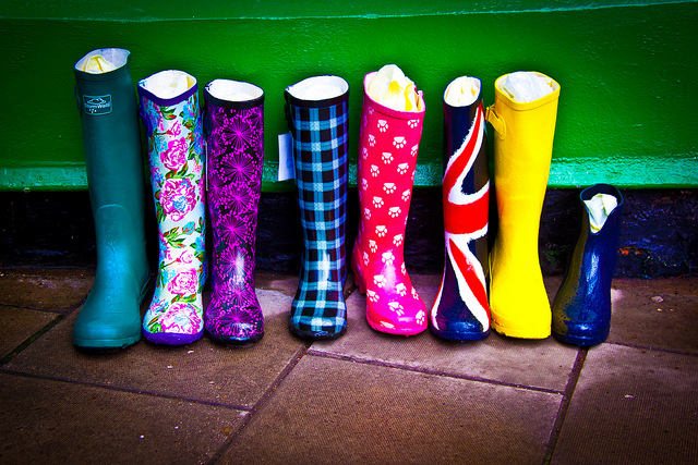 """""""Colorful boots"""" by Chris Goldberg on Flickr (CC BY-NC 2.0)"""