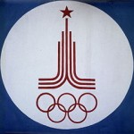 """Emblem of XXII Olympic Games"" by Yuriy Somov via Wikimedia Commons (CC BY-SA 3.0)"