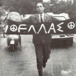 Grigoris Lambrakis durante la marcia pacifista Maratona-Atene del 21 aprile 1963