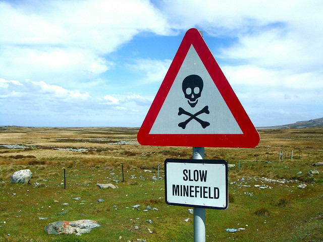 """Slow Minefield: Falkland Islands"" by Tim Rich & Lesley Katon on Flickr (CC BY-NC-ND 2.0)"