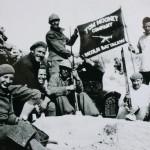 """Tom Mooney Company from the Lincoln Battalion. Jarama, c. 1937"" by ABC historia on Wikipedia Commons (CC [Public Domain])"