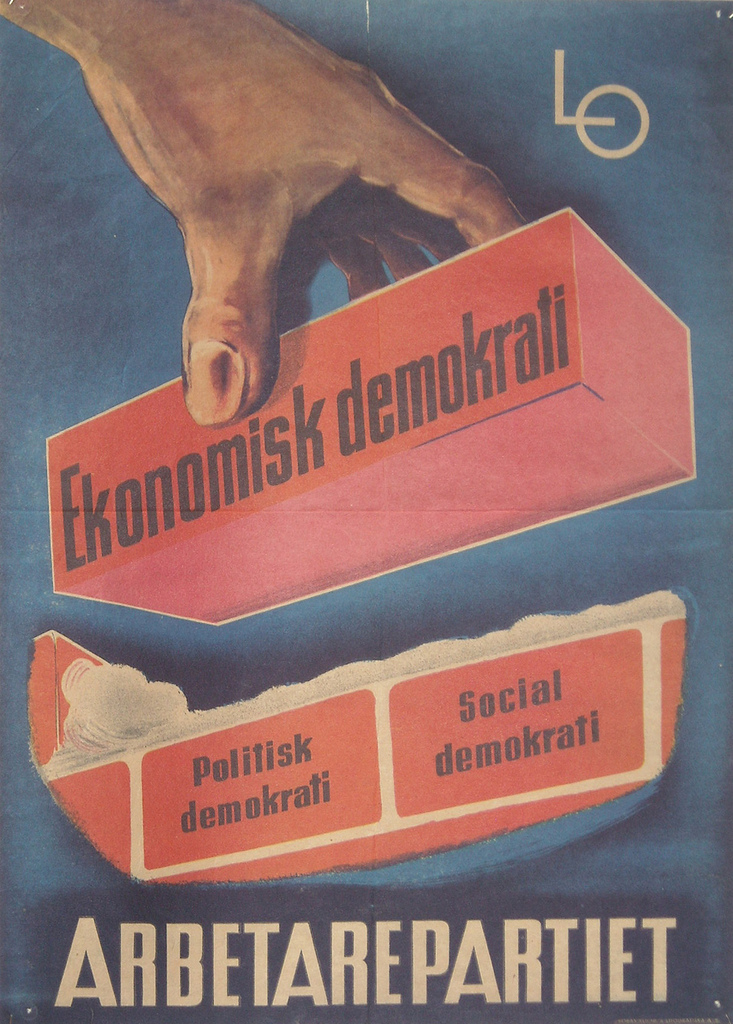 """Election poster Social democrats Sweden"" by marza on Flickr (CC BY 2.0)"