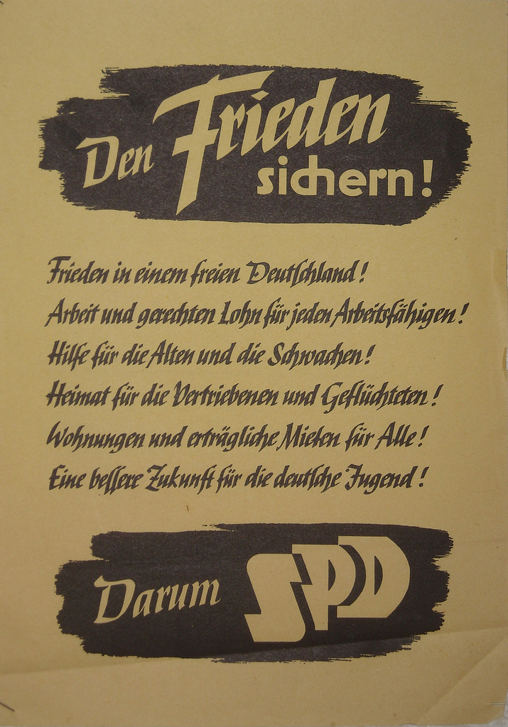 """""""Election poster Germany SPD"""" by marza on Flickr (CC BY 2.0)"""