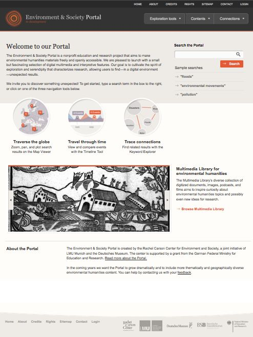 Environment & Society Portal > Homepage [screenshot], URL: <http://www.environmentandsociety.org/> (accesso del 23.06.2012)