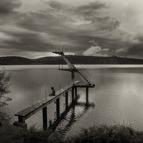 """Plongeoir malgache (b&w version)"" by REMY SAGLIER - DOUBLERAY on Flickr (CC BY-NC-ND 2.0)"