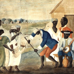 "John Rose? (1752-1820), ""The Old Plantation"", 1785-1790 ca. Acquerello su carta vergata, 29,7×45,4 cm. Williamsburg (Virginia, USA), Abby Aldrich Rockefeller Folk Art Museum (attraverso Wikimedia Commons [Public domain])"