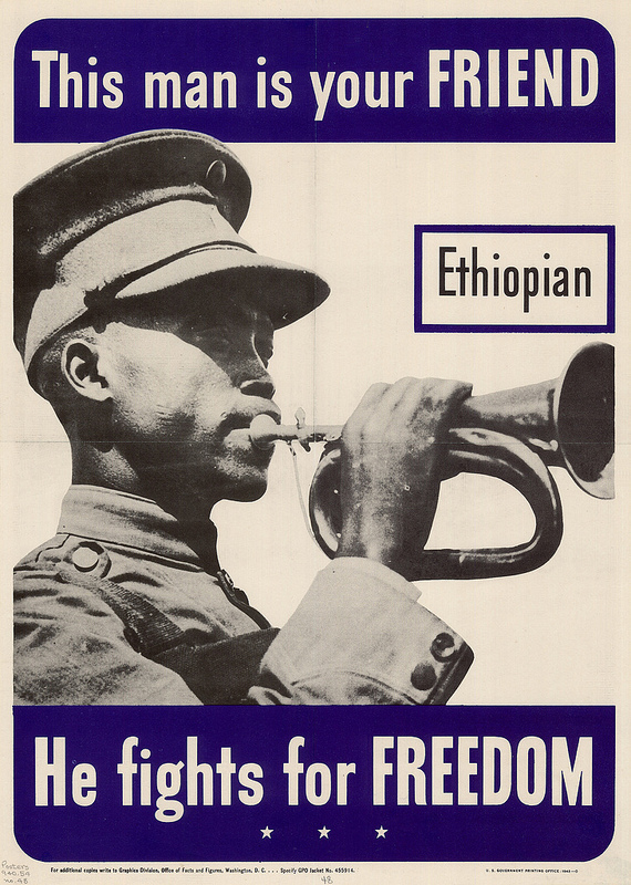 """This man is your friend Ethiopian he fights for freedom"" by Keijo Knutas on Flickr (CC BY 2.0)"