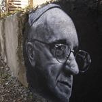 """Le 112ème est Jorge Mario Bergoglio (Pope Francis), painted portrait"" by Thierry Ehrmann on Flickr (CC BY 2.0)"