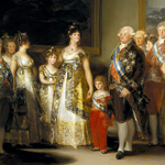"""Francisco Goya y Lucientes (1746-1828), """"La familia de Carlos IV"""", 1800 ca. Olio su tela, 280×336 cm. Madrid, Museo Nacional del Prado (attraverso Wikimedia Commons [Public domain])"""