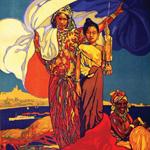 """David Dellepiane (1866-1932), """"Exposition Nationale Coloniale, Marseille 1922"""", 1922. Litografia su carta, 105×75 cm. Collezione privata (attraverso Wikimedia Commons [Public domain])"""