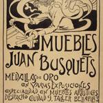 """Joan Busquets (1874-1949), """"Estudi per a «Muebles Juan Busquets»"""", 1900. Inchiostro e matita su carta, 40,7×32,2 cm. Barcellona, Museu Nacional d'Art de Catalunya (© L'immagine appartiene ai rispettivi proprietari / Property of its respective owners)"""