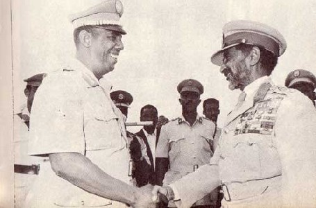 """Siad Barre meets Haile Selassie"" by Mariomassone on Wikimedia Commons (Public domain)"
