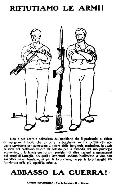 Figura 1. Manifesto pacifista socialista