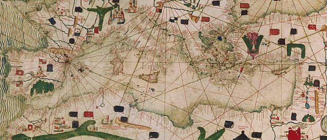 """""""Carta catalana (Mappamondo catalano)"""" by Geagea on Wikimedia Commons (Public domain)"""