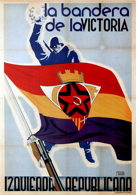 """Magam, The flag of victory (Republican Left) 1937"" by kitchener.lord on Flickr (CC BY-NC-ND 2.0)"