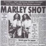 La prima pagina del quotidiano Daily News il giorno dopo l'attentato a Bob Marley