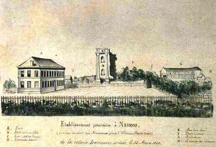 """""""Ansicht von 'Ikarien' um 1849"""" by Machahn via Wikimedia Commons (Public domain)"""