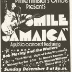 Il manifesto del concerto Smile Jamaica.