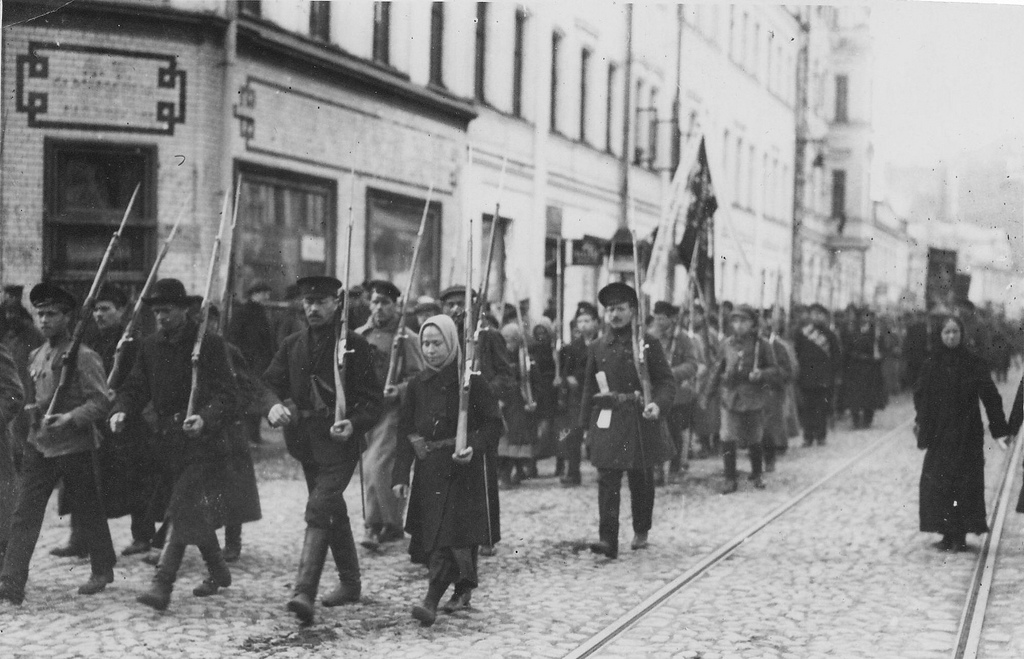 """Russian Revolution: Bolsheviks in Moscow. Red Guard"" by rosaluxemburg on Flickr (CC BY-NC-ND 2.0)"