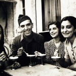 """Lot 11638-11: Operation Husky - Invasion of Sicily, Italy, 9 July – August 17, 1943. Palermo, Sicily, September 1943. One American soldier who found his relatives in Sicily was Vincent J. Crivello of Milwaukee, Wisconsin, eating ice cream at a sidewalk café in Palermo with three of his cousins. Photographed by Nick Parrino. Office of War Information Photograph, 40006-E. (2016/02/11)."" by National Museum of the U.S. Navy - Lot 11638-11 via Wikimedia Commons (CC [Public Domain])"