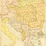 """""""Cartina europea del 1914 indicante i differenti confini politici ed etnici, che nell'ottica irredentista avrebbero dovuto coincidere."""