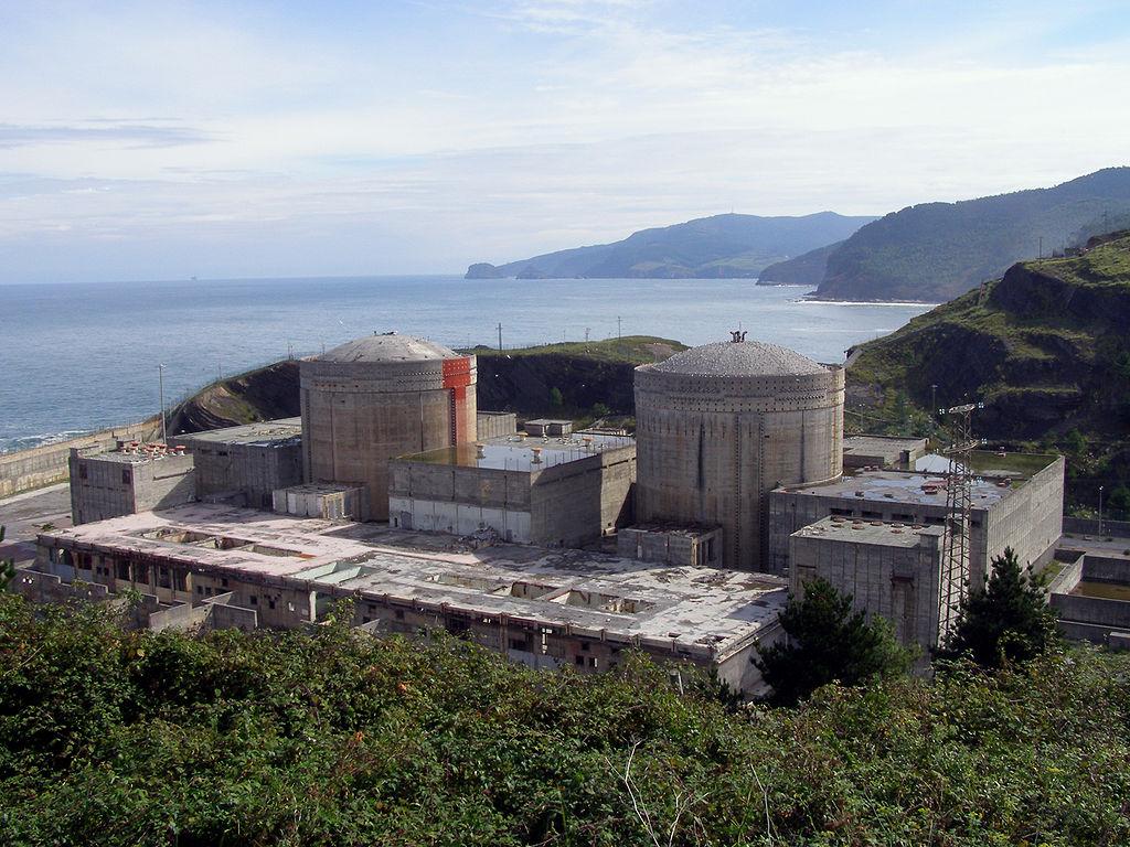 """Central nuclear de Lemóniz (Vista Oeste)"" by Jose A. Solís via Wikimedia Commons (Public Domain)"