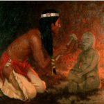 """Eanger Irving Couse (1866-1936), """"The Image Maker"""", 1909. Olio su tela, 60.8 x 73.7 cm. Henry Art Gallery, University of Washington, Washington via Wikimedia Commons [Public Domain]"""