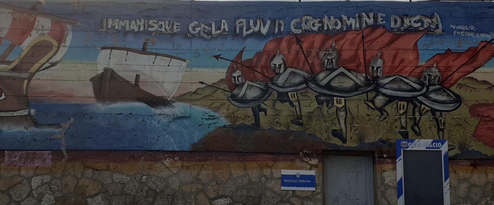 """""""Immanisque Gela fluvii cognomine dicta. Stadio Vincenzo Presti - Gela (CL)"""" by Eleonora Cacici (C)"""
