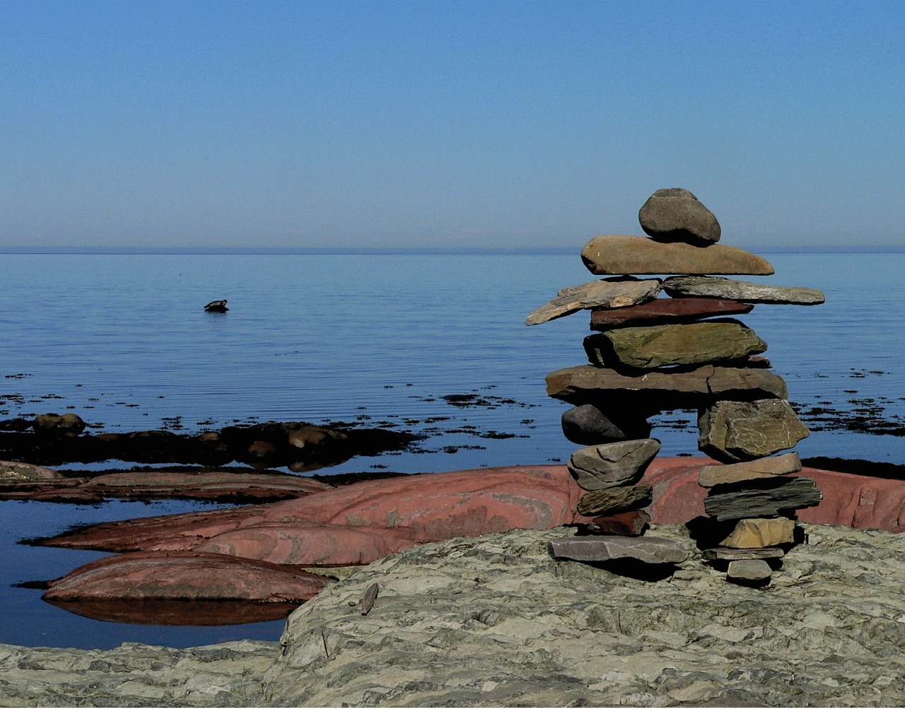 Inukshuk Stones Roche by imaginarr on Needpix (Public Domain)