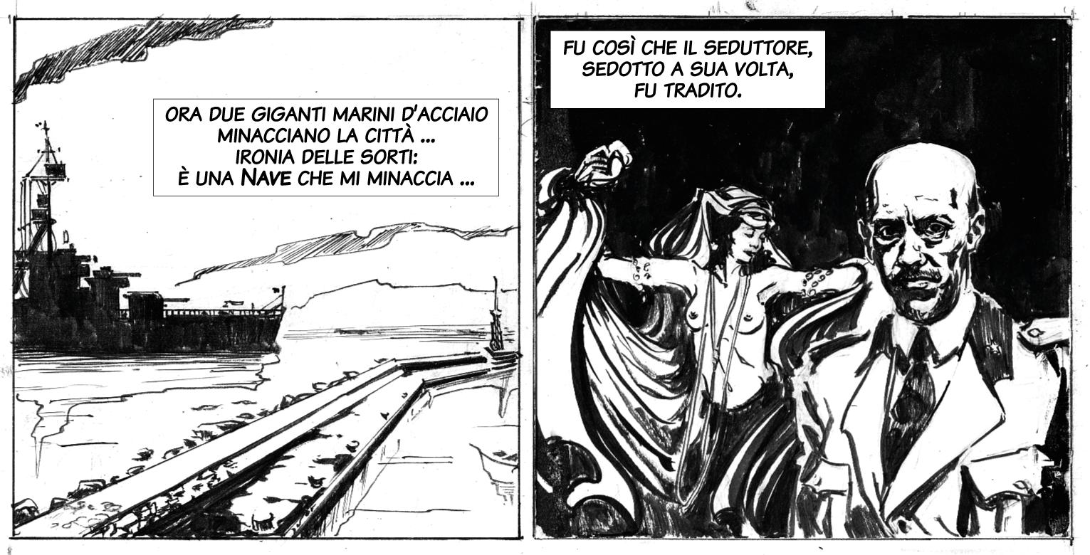 Il seduttore sedotto / D'Annunzio abbandona Fiume. Disegno di Giulia Giaccaglia ©