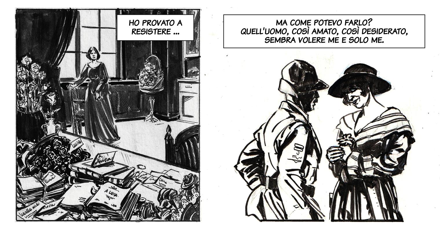 Il corteggiamento / Chi ero. Disegno di Giulia Giaccaglia ©